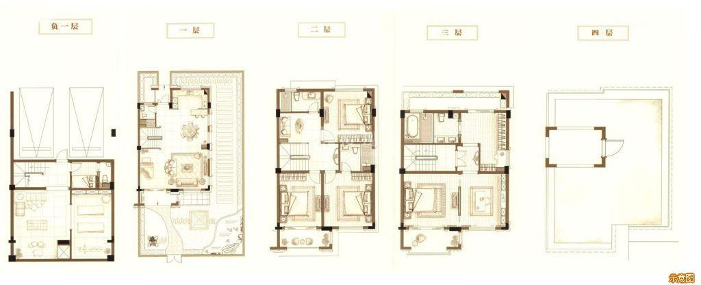 :5室3厅5卫    面积大小:约190.00㎡