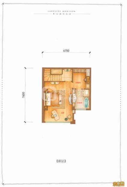 B户型165㎡5室2厅3卫跃层:5室2厅3卫    面积大小:约165.00㎡