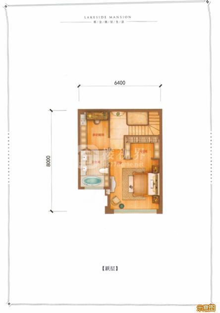 D户型142㎡4室2厅3卫跃层:4室2厅3卫    面积大小:约142.00㎡