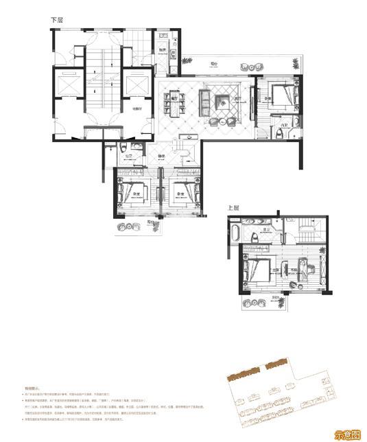 159㎡北厅偶数层  4+1室2厅3卫:4室2厅3卫    面积大小:约159.00㎡