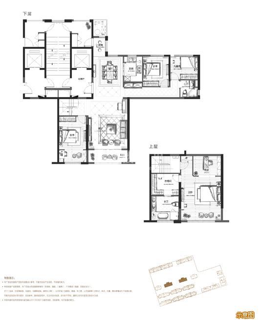 159㎡南厅偶数层 4+1室2厅2卫:4室2厅2卫    面积大小:约159.00㎡