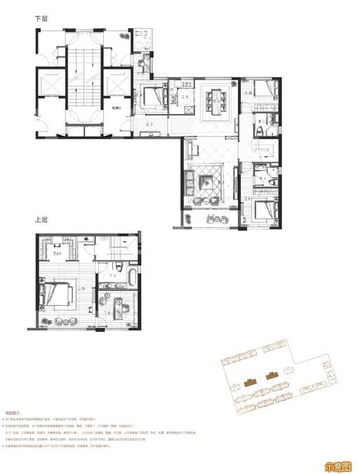 159南厅奇数层  4+1室2厅3卫:4室2厅3卫    面积大小:约159.00㎡
