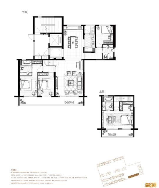 185㎡偶数层 4+1室2厅3卫:4室2厅3卫    面积大小:约185.00㎡