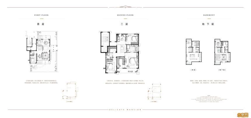 210别墅一二层:1室1厅1卫    面积大小:约210.00㎡