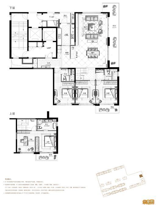 228偶数层 5+1室2厅3卫:5室2厅3卫    面积大小:约228.00㎡