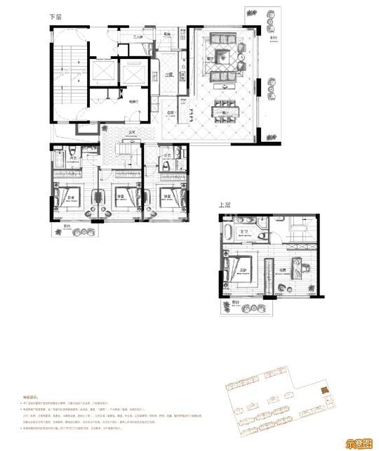 228奇数层 5+1室2厅3卫:5室2厅3卫    面积大小:约228.00㎡