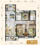 宝龙广场户型图